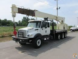 National Crane 900A Straight Boom On 2004 International 7500 Tri ...