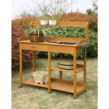 Rubbermaid Patio Storage Bench by Ideas Rustic Potting Bench Potting Bench With Sink Outdoor