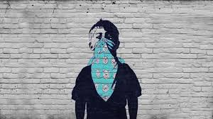 Dark Anarchy Graffiti Urban Art Children Mask Wallpaper