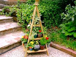 Outdoor Patio Plant Stands by Building A Tiered Plant Stand Video Diy