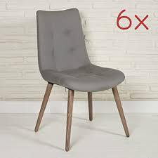 6er set moderne stoffstühle esszimmerstühle aus stoff in