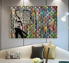 100 Pop Art Bedroom Abstract Modern Art Hand Painted Alec Pop Art On Canvas Graffiti Street Art Good For Bedroom Decoration