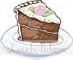 Chocolate Cake Slice Clipart