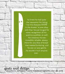 Funny Kitchen Sign Lime Green Decor Butter Knife Art