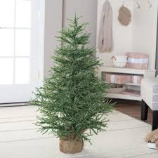 4 Ft Pre Lit Potted Christmas Tree by 5 Ft Fiber Optic Evergreen Led Christmas Tree With 16 In Stand