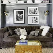 Brown Furniture Living Room Ideas by Sconces Over Sofa Design Ideas