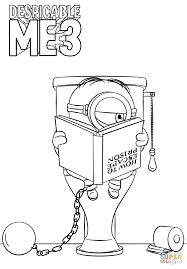 Click The Despicable Me 3 Minion In Prison Coloring Pages To View Printable Version Or Color It Online Compatible With IPad And Android Tablets