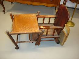 Antique High Chair Convertible To Desk Stroller Authentic ...