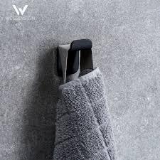 handtuchhaken set schwarz 3 edelstahl haken ohne bohren