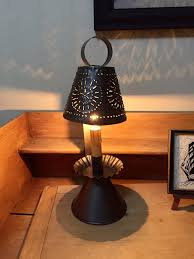 Large Punched Tin Lamp Shades by Pierced Tin Electric Candle Lamp W Silicone Bulb U2013 The Bean House