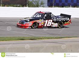 100 Truck Series Drivers Kyle Bush 18 Qualifying Driver NASCAR Editorial Image