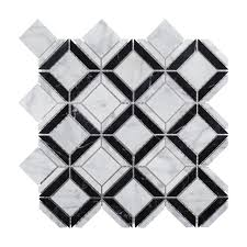 Home Depot Merola Hex Tile by Merola Tile Crag Hexagon Black 11 1 8 In X 11 1 8 In X 10 Mm
