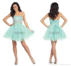 short puffy prom dress with beads light blue teenagers