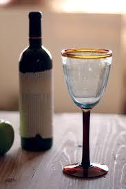 Set Of 6 Rustic Wine Glasses