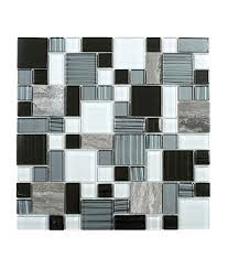 blue white grey glass marble cube mosaic tile