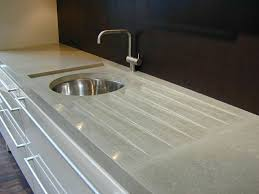 Splash Guard For Bathroom Sink by Gray Concrete Countertop With Integral Drainboard And Splash Guard