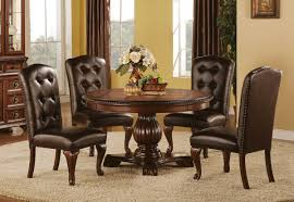 Sophia 7 PC Round Dining Room | Badcock & More Trisha Yearwood Home Music City Hello Im Gone Ding Room Table Grey Griffin Cutback Upholstered Chair Along With Dark Wood Amazoncom Formal Luxurious 5pc Set Antique Silver Finish Tribeca Round And 2 Upholstered Side Chairs American Haddie Light Tone 4 Value Hooker Fniture Corsica Rectangle Pedestal Matisse With W Ladder Back By Paula Deen Vienna Merlot Kayla New