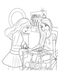 Coloring Pages Free Printable Barbie Kids Drawing Pictures Colouring Online Games Princess Charm