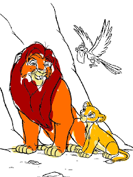 Simba Mufasa And Zazu The Lion King Coloring Page By Years Old Petition To Give