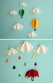 Extraordinary Smart Diy Paper Wall Decor That Will Color Your Life Blue Colored Sky Design