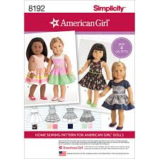 Amazoncom Simplicity Pattern 8192 American Girl Clothes For 18