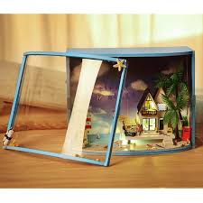 New DIY Handcraft Wooden Miniature Dollhouse Model Toys Kit With