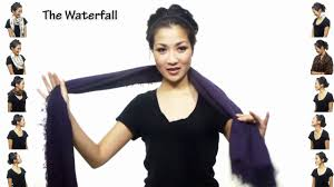 25 ways to wear a scarf in 4 5 minutes youtube