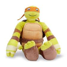 Ninja Turtle Twin Bedding Set by Teenage Mutant Ninja Turtles Cuddle Pillow Michelangelo