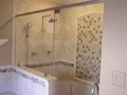 tile shower base glass windows covwring horizontal blind home