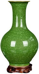 de ke le antik grün blumenvase china ming stil