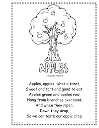 Poems About Halloween For Kindergarten by 12 Best Apple Rhyming For Kids Images On Pinterest Apples