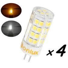 bonlux 4 pack g4 led light bulb 4w 120v t3 jc type led 35w halogen