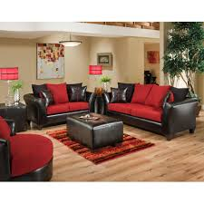 Living Room Set 1000 by Flash Furniture Riverstone Victory Lane Cardinal Microfiber Black