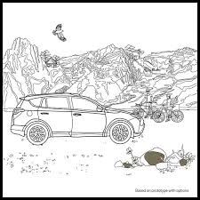 Color Your Own Toyota With Pigment The Best Adult Coloring Book App Ever