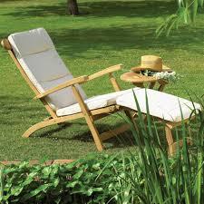 bramblecrest churchill teak steamer chair internet gardener