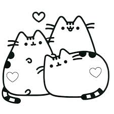 Full Image For Persian Cat Coloring Pages Pusheen Book The
