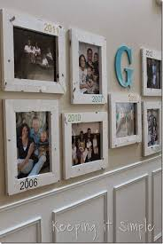 DIY Family Gallery Wall Using Your Silhouette To Add The Vinyl Dates On Frames