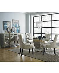 Marais Round Dining Room Furniture Collection Mirrored