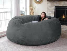Big Bean Bag Bed Grey Huge Extra Large