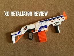 nerf n strike elite xd retaliator unboxing range test