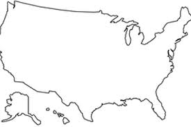 Us Map Transparent Background California Plain Outline No At Green Of USA With American Flag In