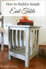 ana white build a small x end table featuring shades of blue