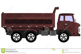 Brown Dump Truck Stock Vector. Illustration Of Industries - 124271601