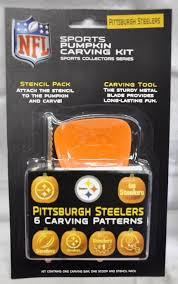 Steelers Pumpkin Carving Stencils Free by Pittsburgh Steelers Halloween Pumpkin Carving Kit New Stencils For