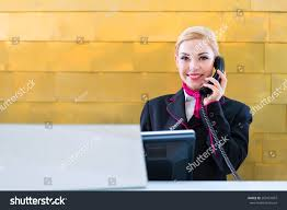 Front Desk Receptionist Jobs Nyc by Hotel Receptionist Phone On Front Desk Stock Photo 267451097