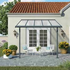 Palram Feria Patio Cover Uk by Palram Sierra Patio Cover Grey Garden Street