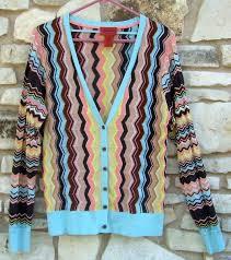 missoni target cardigan sweater size l large knit zig zag aqua