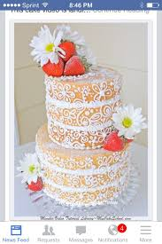 This Elegant Semi Dressed Cake Is A Twist On The Popular Rustic Naked I Love But Very Interesting As Well