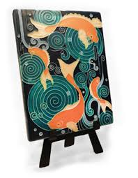 arts and crafts style handmade wood clocks gifts tile ls and