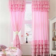 Pink Ruffle Blackout Curtains by Curtain Elegant Decor Ruffled Pink Curtains Ideas Lace Ruffled
